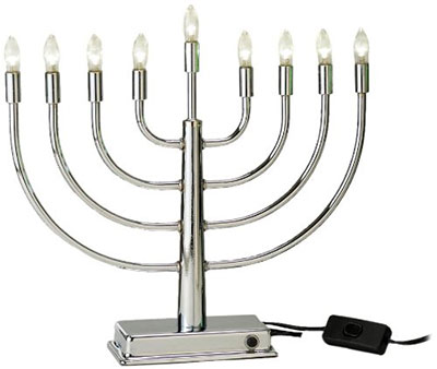 Rite Lite Judaica Energy Saving Low Voltage Led Steel Menorah