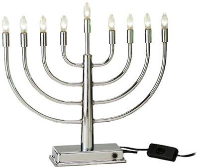 Rite Lite Judaica Energy Saving Low Voltage Led Steel Menorah