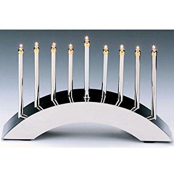 Silver Arch Low Voltage Electric Menorah