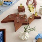 Tangram Hanukkah Wooden Menorah