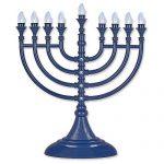 Traditional LED Electric Hanukkah Menorah - Battery USB & Powered