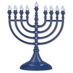 Traditional LED Electric Hanukkah Menorah - Battery USB & Powered