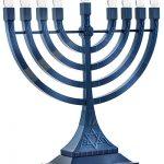 Zion Judaica Led Electric Hanukkah Menorah – Battery Usb Powered