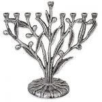 Olive Tree Menorah Pewter Plated