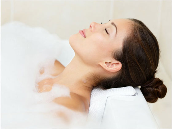 Relaxed Woman Bath