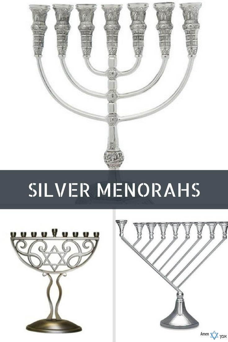 Silver Menorahs