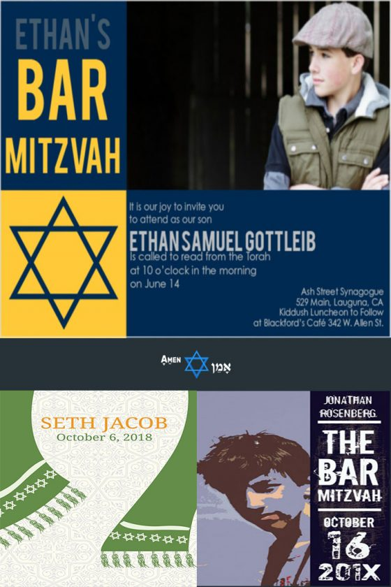 23 unique bar mitzvah invitations for an unforgettable event 2018