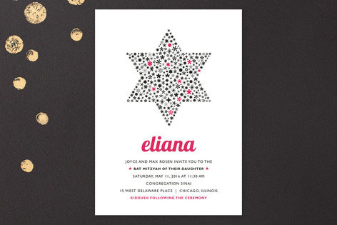 Bat Mitzvah Star Invitation