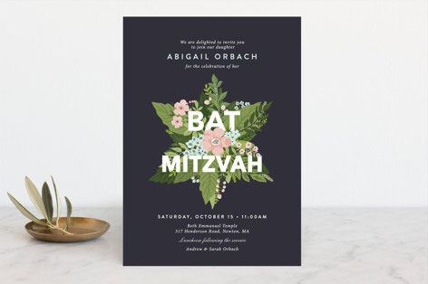Botanical Mitzvah Invitation