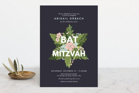 Botanical Mitzvah Invitation