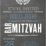 Chalkboard Bar Mitzvah Invitation