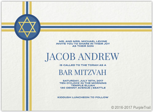 Classic Stripes Bar Mitzvah Invitation