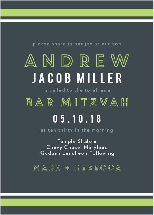 Contemporary Lines Bar Mitzvah Invitations