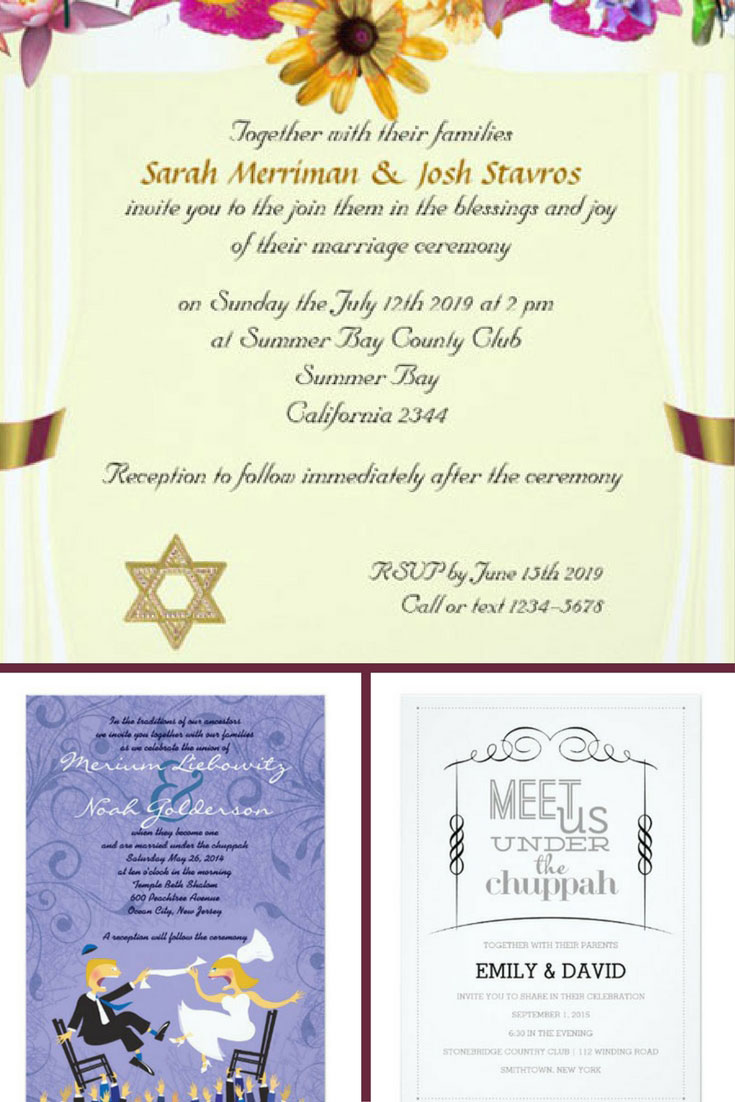 18 gorgeous jewish wedding invitations for an unforgettable night 2018 jewish wedding invitations stopboris Gallery