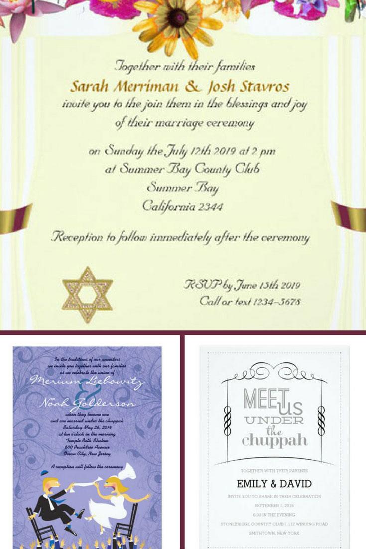 20 beautiful jewish wedding invitations for the couples big night 2018