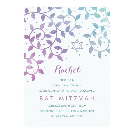 22 Modern Bat Mitzvah Invitations for Your Girls Big Day 2018