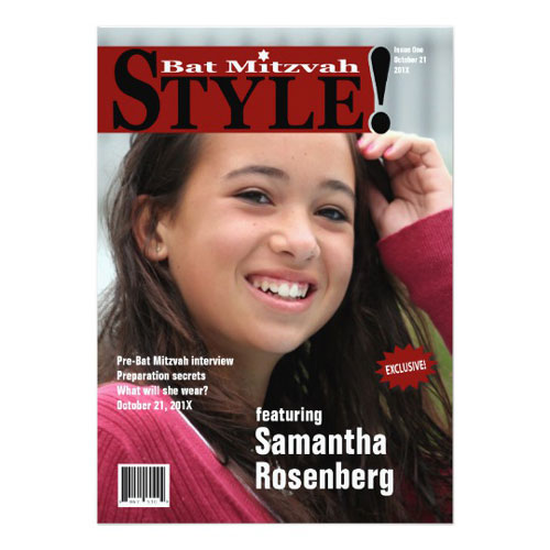 Style! Bat Mitzvah Magazine Invitation