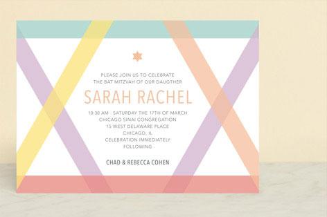Washi Tape Mitzvah Invitation