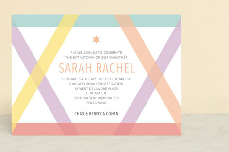 Washi Tape Mitzvah Invitation