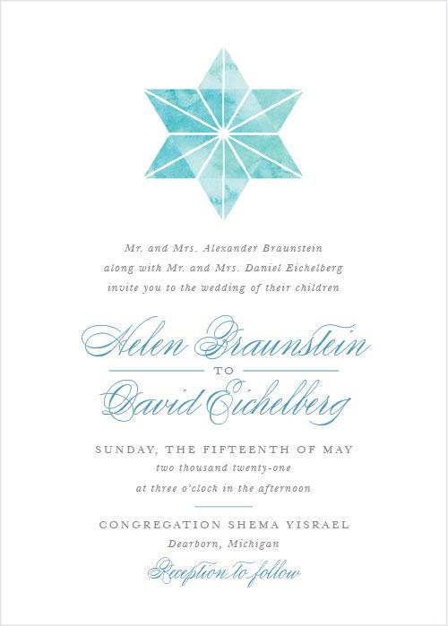 Watercolor Star Wedding Invitations
