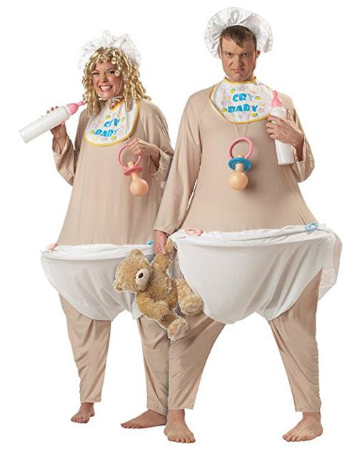 Adult Cry Baby Bodysuit Costume