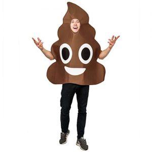 Dsplay Emoticon Poop Costume For Unisex Adult Onesize