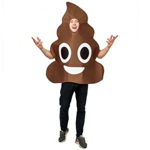 Dsplay Emoticon Poop Costume For Unisex Adult Onesize