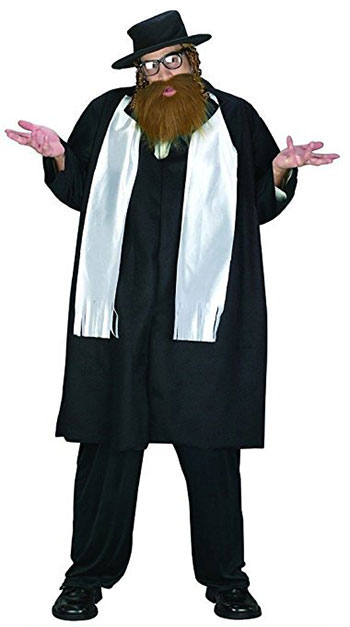 Mens Adult Rabbi Costume