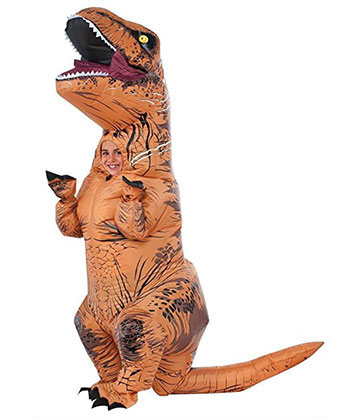 Rubies Jurassic World T Rex Inflatable Costume Childs Size