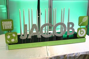 App Themed Candle Lighting Display For Iphone Themed Bar Mitzvah