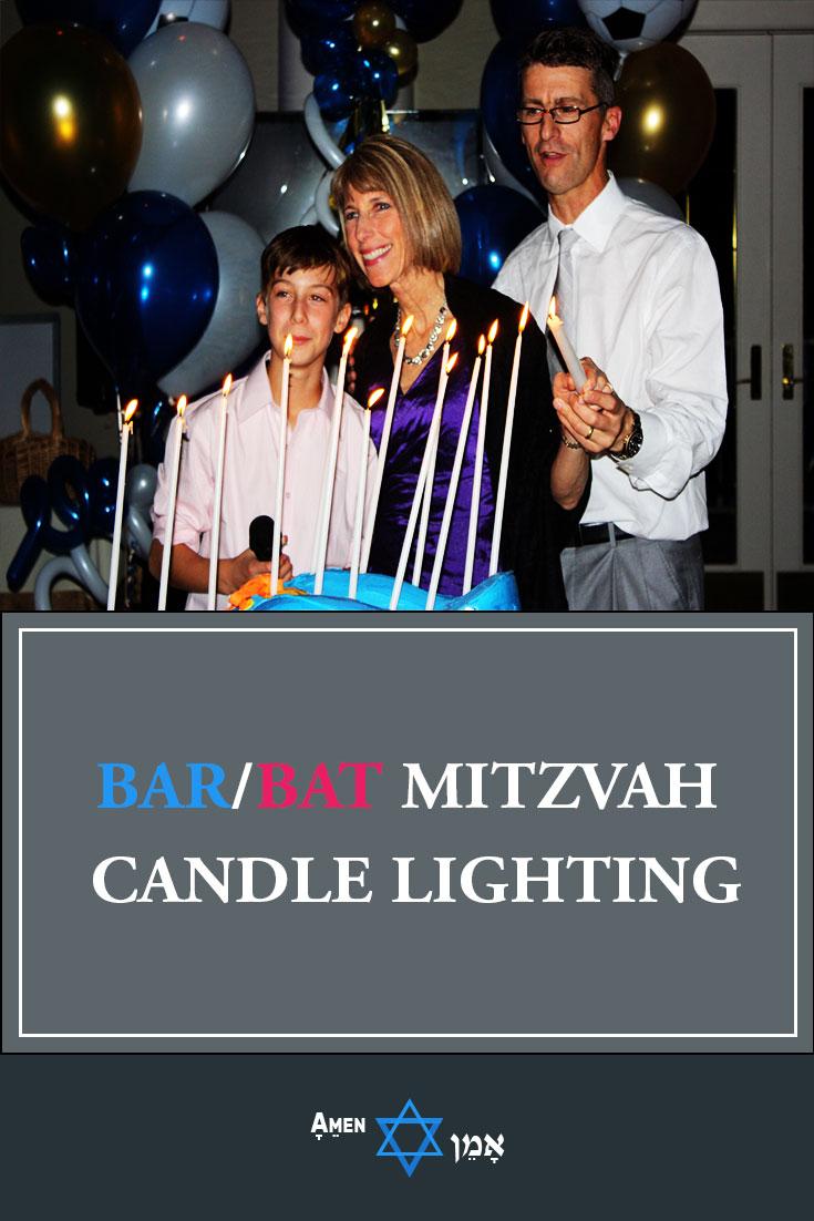 Bar Bat Mitzvah Candle Lighting Ceremony Large