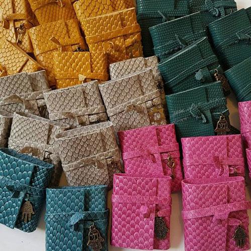 Bar Mitzvah Leather Wrapped Tehillim Jeweled Pendant