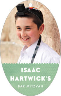 Chevron Edge Bar Mitzvah Hang Tags