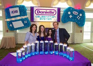 Led Candle Lighting Display For Video Game Themed Bat Mitzvah