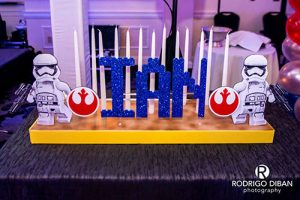 Lego Themed Candle Lighting Display With Custom Name