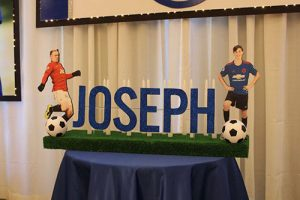 Soccer Themed Candle Lighting Display