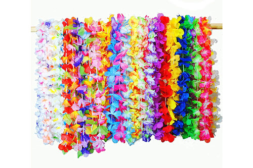 Tropical Hawaiian Luau Lei Flowers