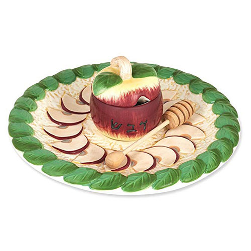 Hand Painted Rosh Hashanah Honey Dish