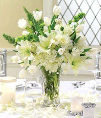 Pearled Passions Reception Centerpiece