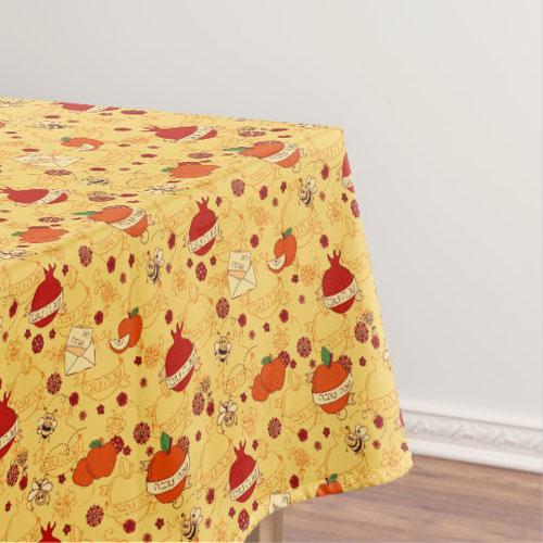 Rosh Hashanah Cotton Tablecloth