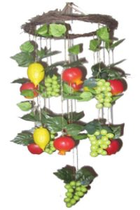 Assorted Fruits Chandelier For The Sukkah