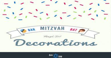 Bar Bat Mitzvah Decorations