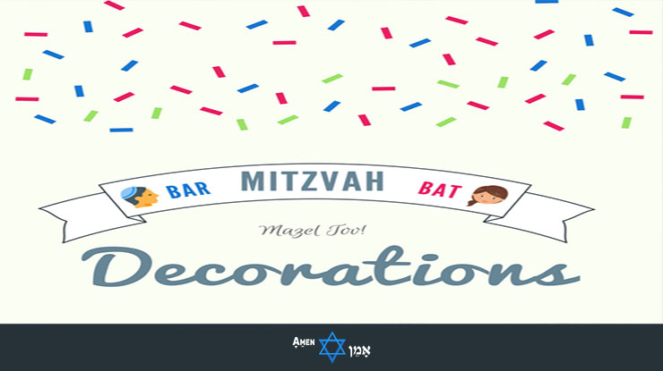 Bar Bat Mitzvah Decorations