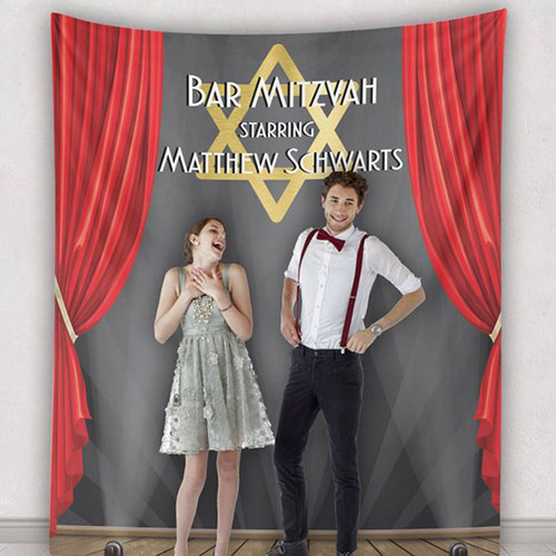 Bar Mitzvah Backdrop Banner