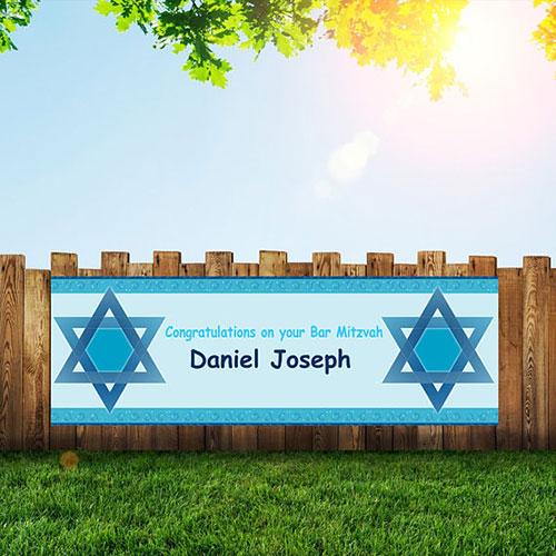 Bar Mitzvah Mazel Tov Banner