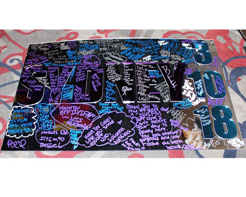 Custom Personalized Acrylic Bar Mitzvah Sign In Board