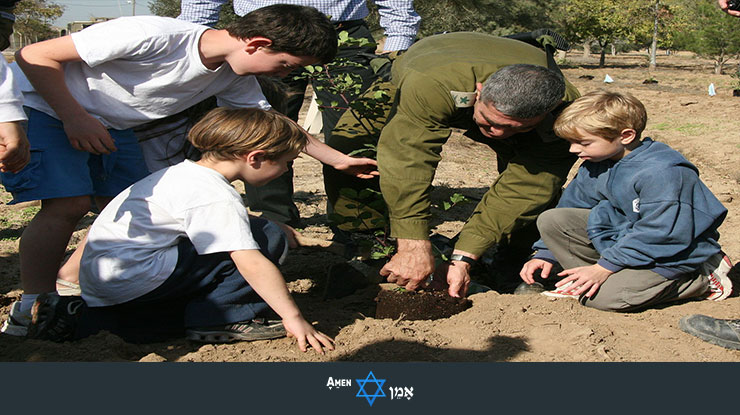 Bar Mitzvah & IDF Planting Trees