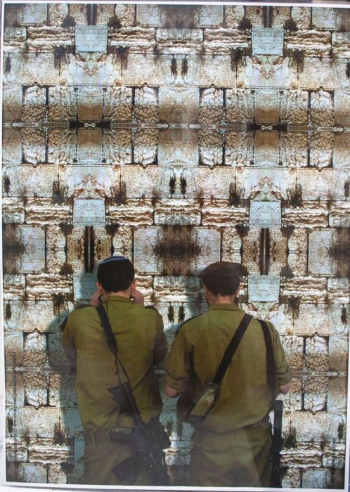 Laminated Soldiers At The Kotel Poster