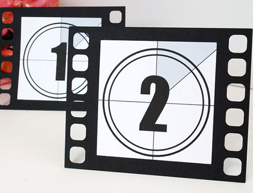 Movie Film Table Numbers