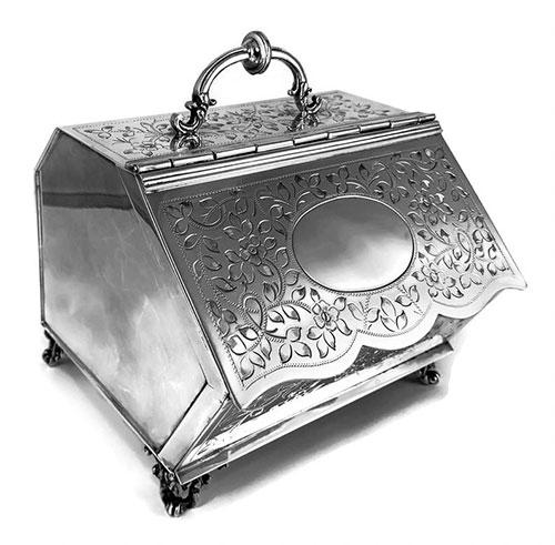 Vintage Italian Sterling Silver Etrog Box
